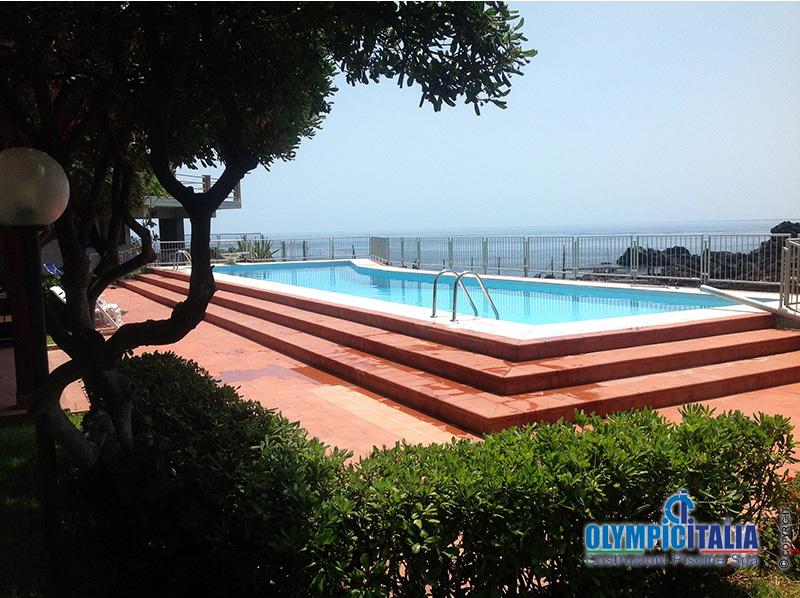 Costruzione piscina sul mare offerte piscine trapani for Offerte piscine